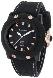 Glam Rock Women's GW23038 Florida Beach Black Dial Black Silicone Watch  $295.00  #GlamRock #DiscountWatches