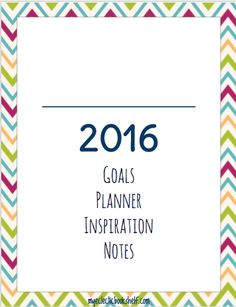 2016 Printable Planner - My Eclectic Bookshelf  This cute printable planner matches the Budget Binder!!!