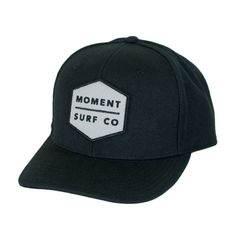 Moment Boxed Logo Hat - Black | Moment Surf Company