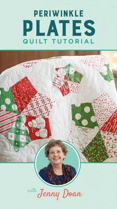 This week, create a Periwinkle Plates quilt with Jenny Doan! She uses both the mini and small Periwinkle Wacky Web Templates by Missouri Quilt Co. and the quilt is made with a layer cake, a charm pack, and a bit of yardage. Christmas, florals, batiks, or solids - Periwinkle Plates will look fabulous in any fabric you choose! Follow the link below to watch the quilt tutorial now! #MissouriStarQuiltCo #PeriwinklePlatesQuilt #Quilt #ChristmasQuilt #Dresden Jenny Doan Tutorials, Applique Stitches, Stitch Lines, Missouri Star Quilt, Straight Stitch, Charm Pack, Christmas Fabric, Quilting Tutorials, Periwinkle