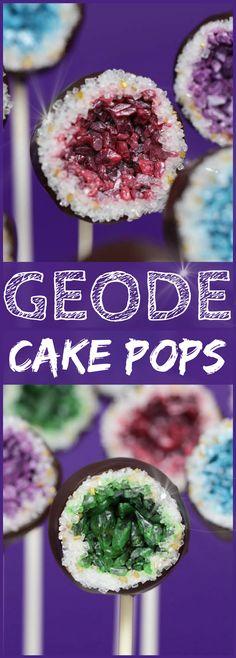 Geode Cake Pop Recipe