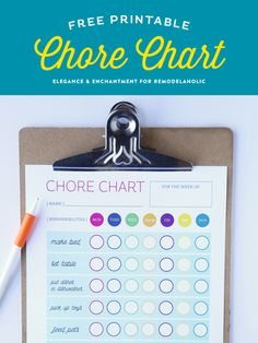 Kick off the new year with new responsibilities! Download this free printable chart for your kids to keep track of their chores and to work toward their goals. Design by Elegance and Enchantment for Remodelaholic.