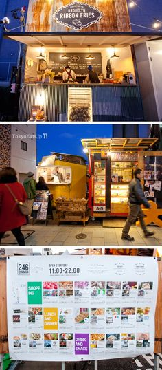 246 Common is an outdoor mobile/trailer food court/farmer's market community in the middle of Aoyama/Omotesando.