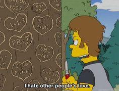 Imagem de love, hate, and simpsons