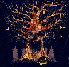 Halloween Horror, Halloween Cards, Vintage Halloween, Happy Halloween, Halloween Decorations, Haunted Halloween, Horror Artwork, Old Art, Halloween