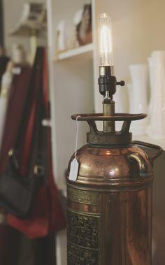 metal fire extinguisher lamp $200