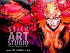 realizado por Alejandra Ortiz, maestra de Stick Art Studio, escuela de maquillaje artístico y profesional.  Barcelona, España