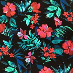 Gorgeous Hawaiian Bouquet floral print with beautiful red and pink hibiscus blossoms. Crutcheze made rollator covers with this fabric. What would you do with it?