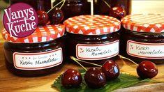 Kirschmarmelade - Thermomix - Rezept von Vanys Küche Kneading Dough, Bechamel, Smart Kitchen, Milkshake, How To Introduce Yourself, A Food, Food Processor Recipes, Food To Make, Salsa