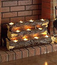 Tea Light Fireplace Log