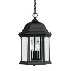 "3 Light Outdoor Pendant for the Porch, $70.20 @ 15"" high x 9.5 dia"