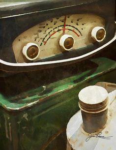 Old green radio