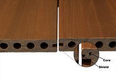BuildDirect – Composite Decking - Dura-Shield Hollow Series – La Jolla Teak - Profile View