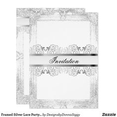 Framed Silver Lace Party Template