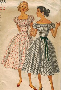 1950s Simplicity 4638 Vintage Sewing Pattern - midvalecottage, etsy