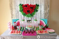 See how great the new line of Deco Art Americana Premium Paints blend together to create a beautiful watermelon canvas art this summer! Cheap Party Decorations, Birthday Party Decorations, Diy Craft Projects, Crafts For Kids, Diy Crafts, Kids Canvas, Canvas Art, Americana Paint, Used Cardboard Boxes