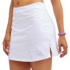 Athletic Works Women's Core Active Dri-Works Skort white Size M Skort Outfit, Golf Outfit, Jersey Knit Skirt, White Skort, Golf Skirts, Womens Workout Outfits, Best Wear, Jeans, Denim Shirt