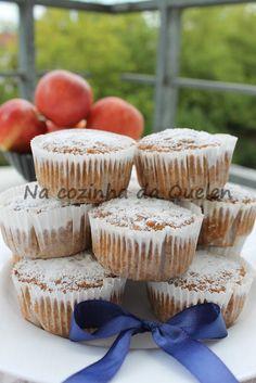 Na cozinha da Quelen...: Muffin rápido de maçã com canela