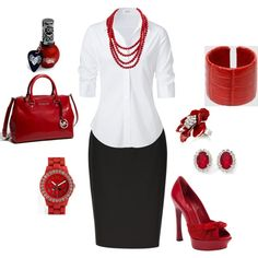 business red, created by lisa-trent on Polyvore