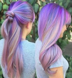 Boring hair days are for boring hair. When you hop onboard the unicorn hairstyle development, there' Pretty Hair Color, Beautiful Hair Color, Purple Hair, Ombre Hair, Unicorn Hair Color, Pinterest Hair, Hair Dye Colors, Bright Hair, Mermaid Hair