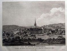 1777 Longueuil after Perignon FINE copper engraving of APPENZELL