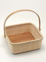 Nantucket Napkin Basket in cherry wood - fun for Easter!