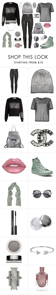 """""""so metal"""" by ell-richards ❤ liked on Polyvore featuring By Malene Birger, Jil Sander, River Island, Marc Jacobs, Lime Crime, Converse, Brunello Cucinelli, Wood Wood, Clarins and Bling Jewelry"""