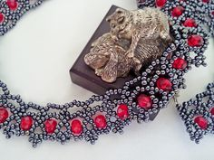Free pattern for beautiful beaded necklace Venice | Beads Magic