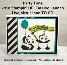 2018 Stampin' UP! Spring Catalog and Sale-a-bration Launch Party – Live, Virtual and To Go Packets