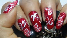 Red Nail Art Designs Tutorial With Complete Steps