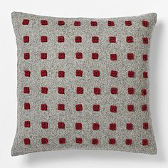 I would love to make a pillow like this one from West Elm.  Love red and grey for Christmas!