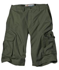 Dickies Mens 13 Inch Relaxed Fit Peached Twill Cargo Short, Moss, 36