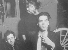 Shane McGowan, Mark E. Smith & Nick Cave, London 1989