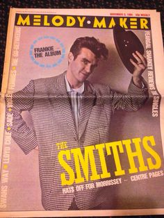 The Smiths Melody Maker 1984 Cover & back  only featuring Morrissey  on Etsy, $18.99