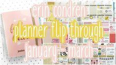 2016 Erin Condren Planner Flip Through ♡ January - March