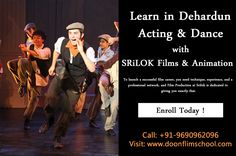 Best acting and dancing classes in Dehradun available at Srilok Doon films school. Enroll today! Admissions open for the Batch 2017-2018. To know more about the courses, fee structure and the time duration simply visit www.doonfilmschool.com Dehradun, Film School, Acting, Singing, Films, Animation, Student, Dance, Learning