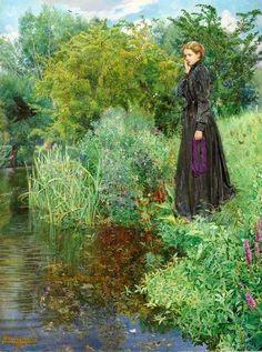 Shaw, Byam, (1872-1919), Last Summer Things Were Greener, 1901, Oil
