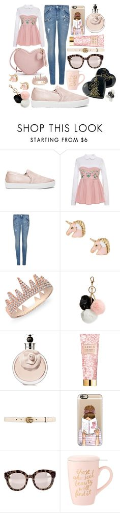 """Book Lover"" by pulseofthematter ❤ liked on Polyvore featuring Joie, VIVETTA, Pierre Balmain, Anne Sisteron, GUESS, AERIN, Gucci, Casetify, Dolce&Gabbana and Lindt"