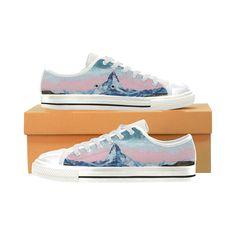 Top design Sneakers with Zermatt Matterhorn-pastel colour- Women's Shoes - Large Size