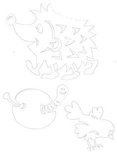 kedgehog & bird & worm - autumn paper craft pattern