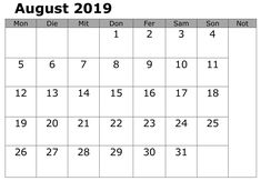 August 2019 Monthly Calendar With Holidays September Calendar Printable, June 2019 Calendar, Free Printable Calendar Templates, Excel Calendar, Monthly Calendar Template, Printables, Canada Calendar, Blank Calendar, Kalender August
