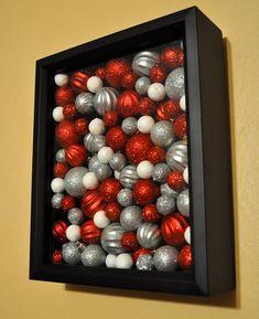 Quadro con palline di Natale