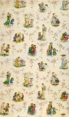 Wallpaper by Kate Greenaway, late 19th century