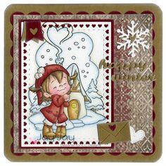 C.C. Designs, Roberto's Rascals Happy Twila, Roberto's Rascals Winter Cottage, C.C. Cutters Big Scalloped Squares Die, C.C. Cutters Squares #1 Die, C.C. Cutters Make A Card #11 Winter Die, C.C. Cutters Make A Card #9 Autumn Die, C.C. Cutters Snowflake Die