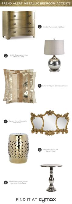 Trend Alert: Metallic Bedroom Accents