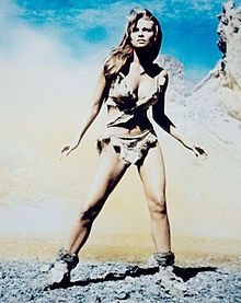 Raquel Welch in her famous pin-up picture from 1966's One Million Years B.C.
