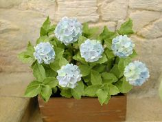 Hydrangea Blue Flower Kit by Pascale Garnier
