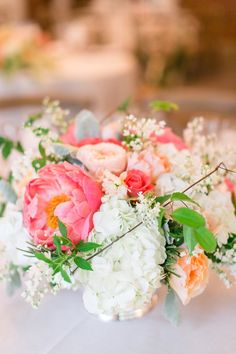 #hydrangea, #peony, #centerpiece  Photography: Jodi Miller Photography - www.jodimillerphotography.com  Read More: http://www.stylemepretty.com/2014/06/12/whimsical-maryland-wedding-at-woodend-sanctuary/