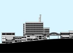 Park Hill art print by Jonathan Wilkinson Urban Landscape, Landscape Art, Sheffield Art, Park Pictures, Willis Tower, Illustration Art, Illustrations, Street Art, Castle