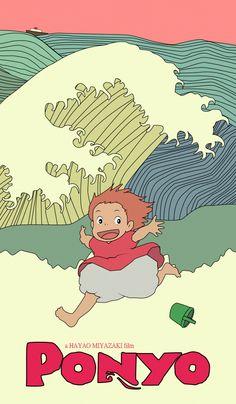 Ponyo. Studio Ghibli. Movie poster. on Behance